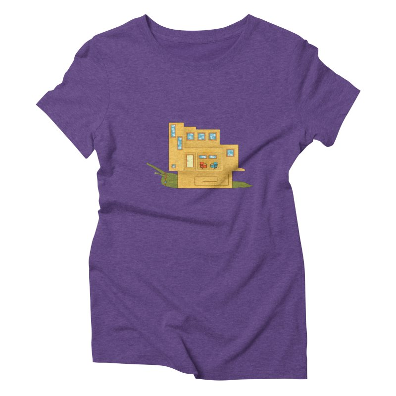 Mod Snail Women's Triblend T-Shirt by The Art of Rosemary