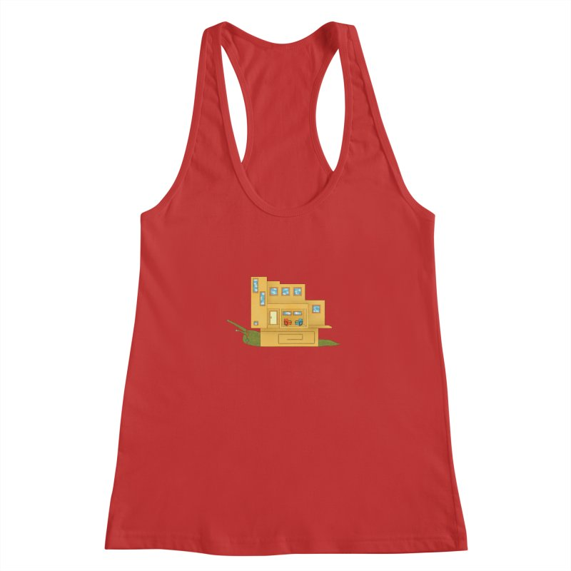 Mod Snail Women's Racerback Tank by The Art of Rosemary