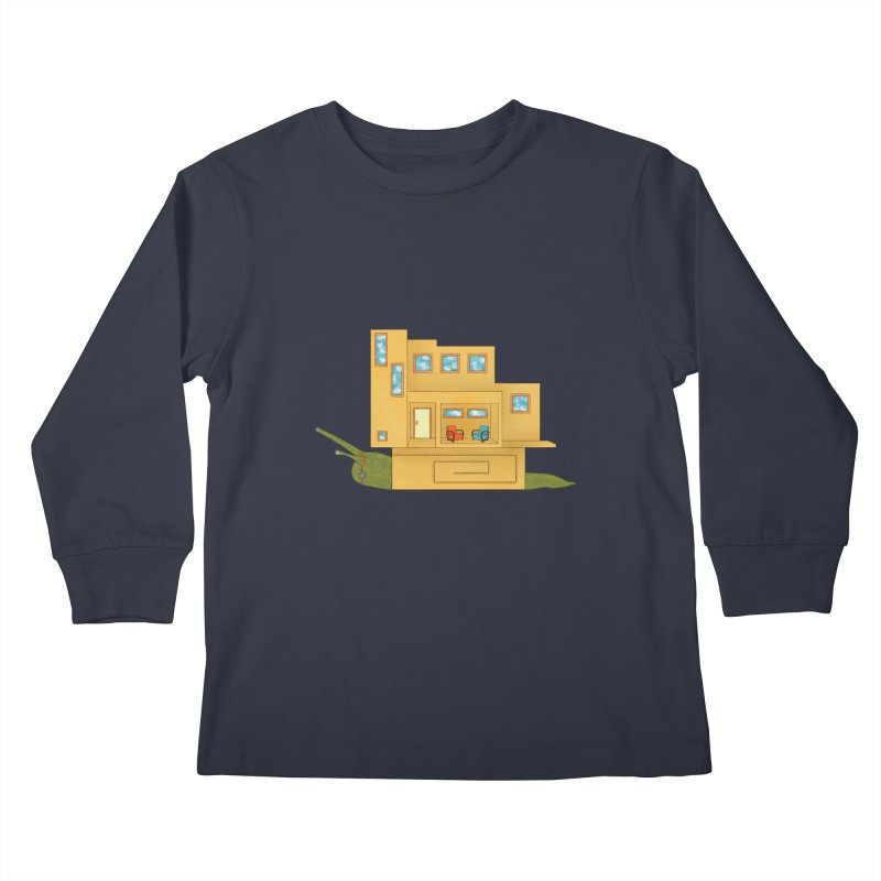 Mod Snail Kids Longsleeve T-Shirt by The Art of Rosemary