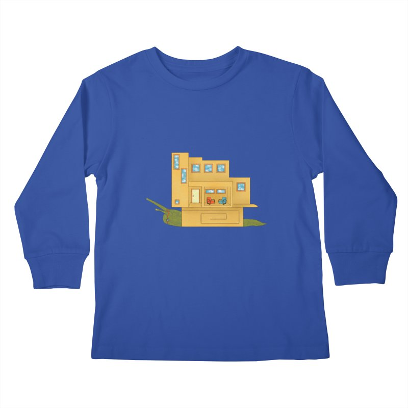 Mod Snail Kids Longsleeve T-Shirt by The Art of Rosemary
