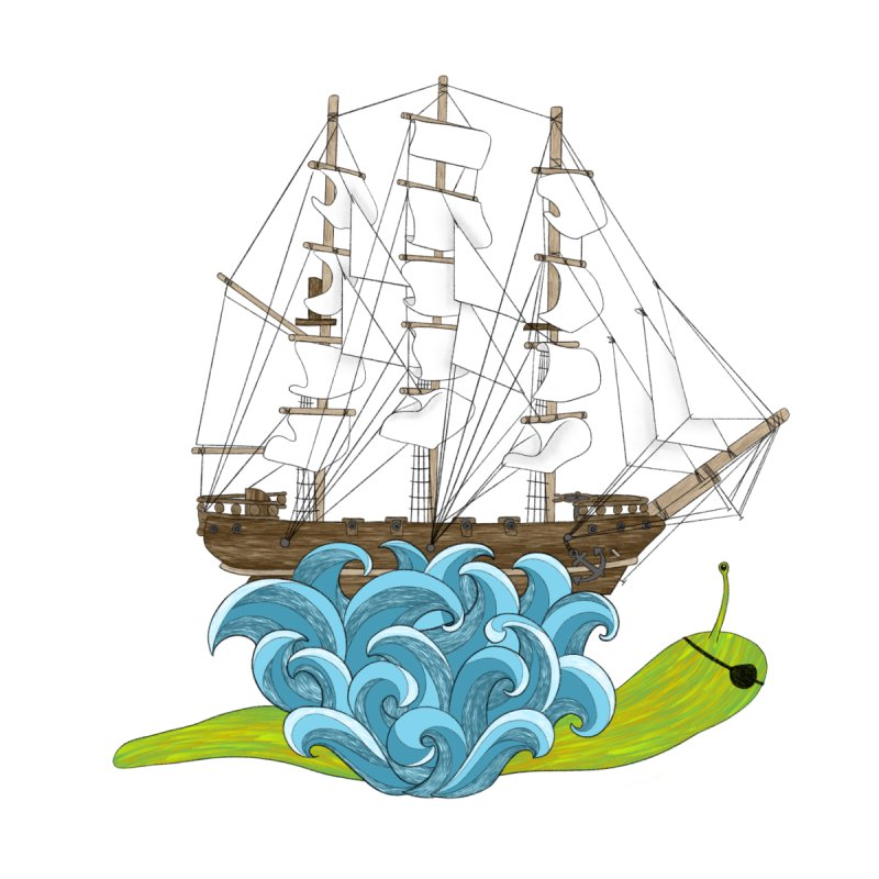 Ship Snail by The Art of Rosemary
