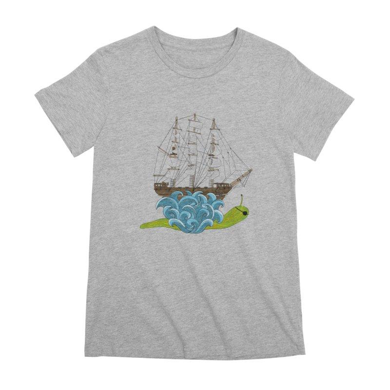 Ship Snail Women's Premium T-Shirt by The Art of Rosemary