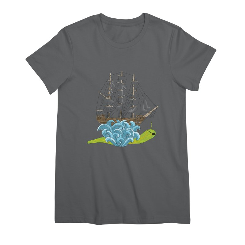 Ship Snail Women's Premium T-Shirt by The Art of Rosemary