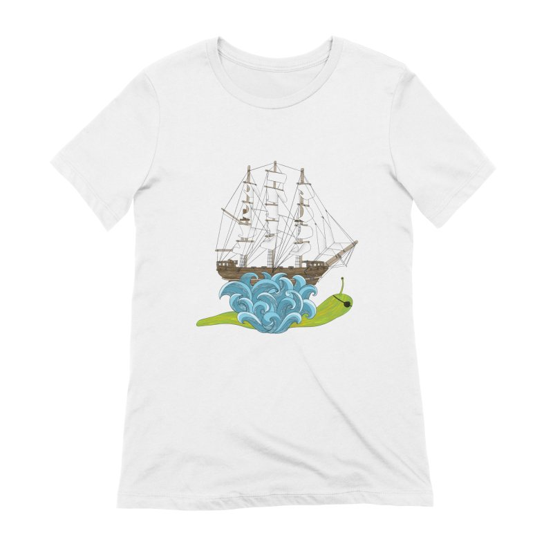 Ship Snail Women's Extra Soft T-Shirt by The Art of Rosemary
