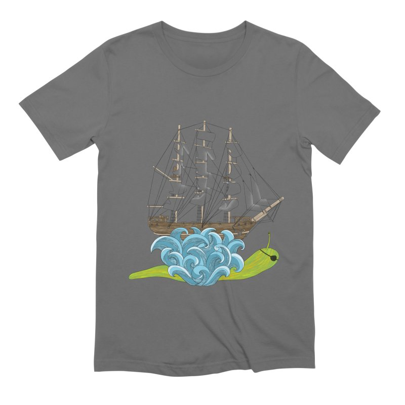 Ship Snail Men's Extra Soft T-Shirt by The Art of Rosemary