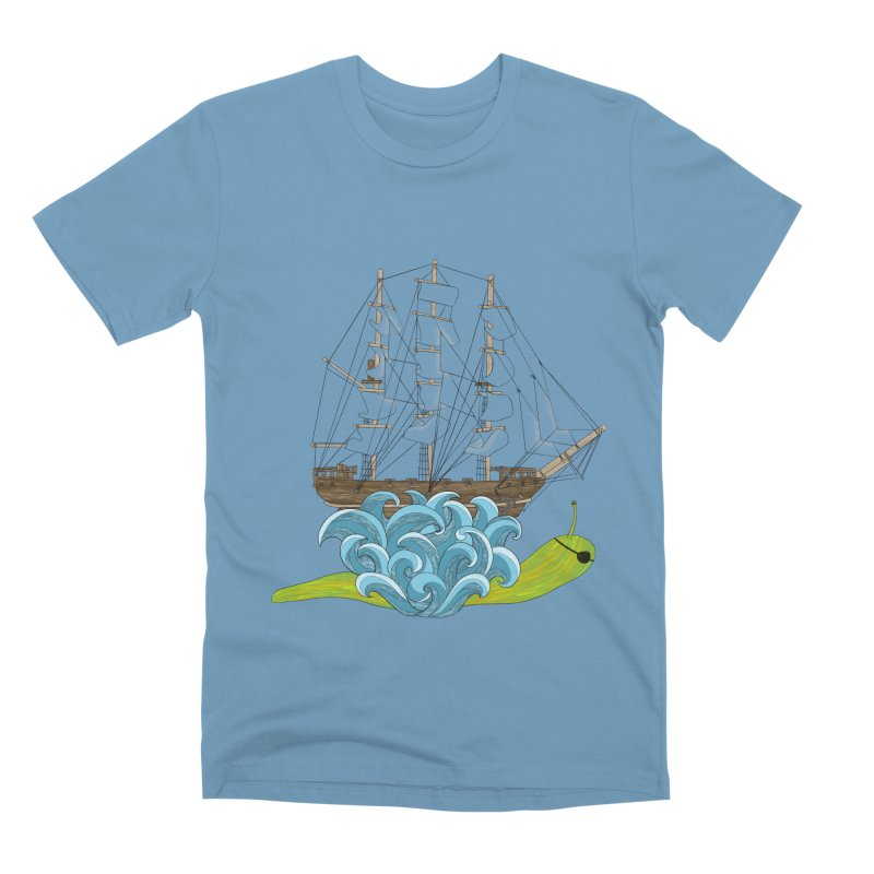 Ship Snail Men's Premium T-Shirt by The Art of Rosemary