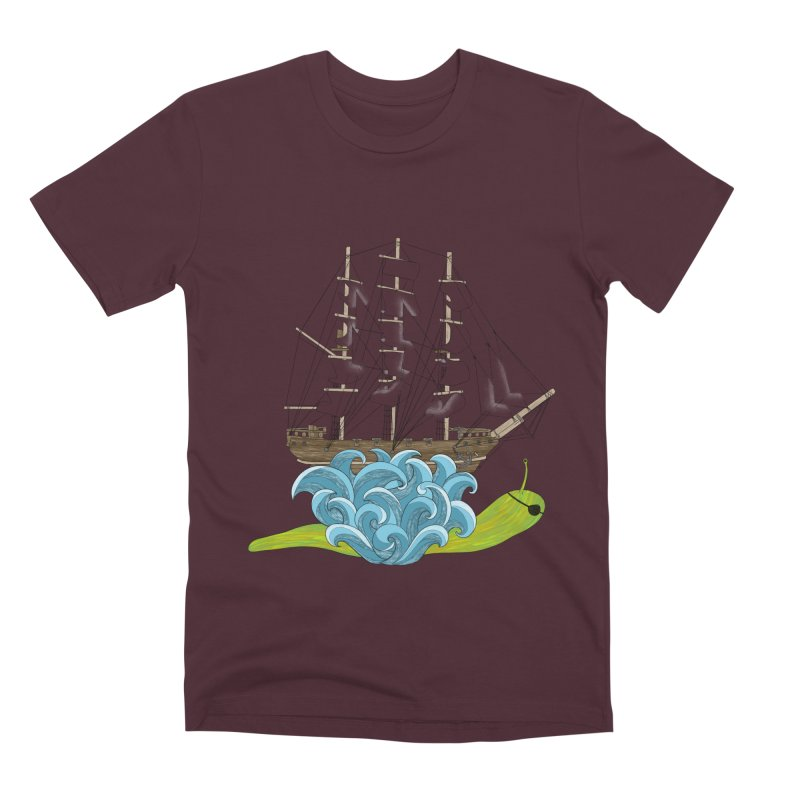 Ship Snail Men's Premium T-Shirt by The Art of Rosemary