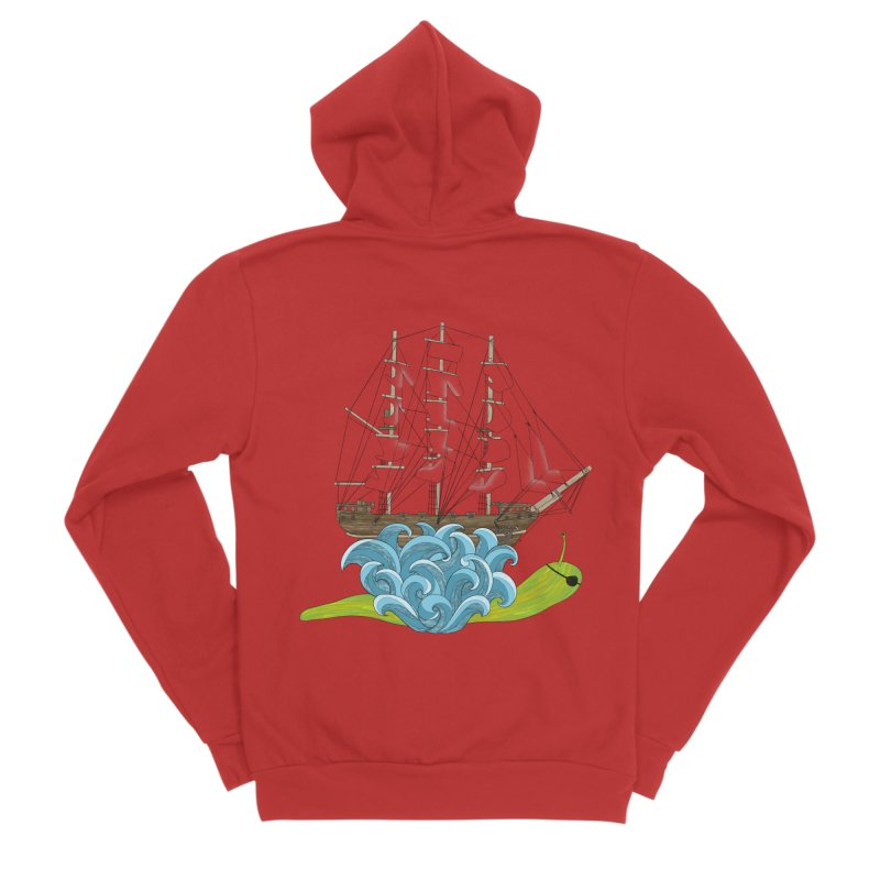 Ship Snail Men's Sponge Fleece Zip-Up Hoody by The Art of Rosemary
