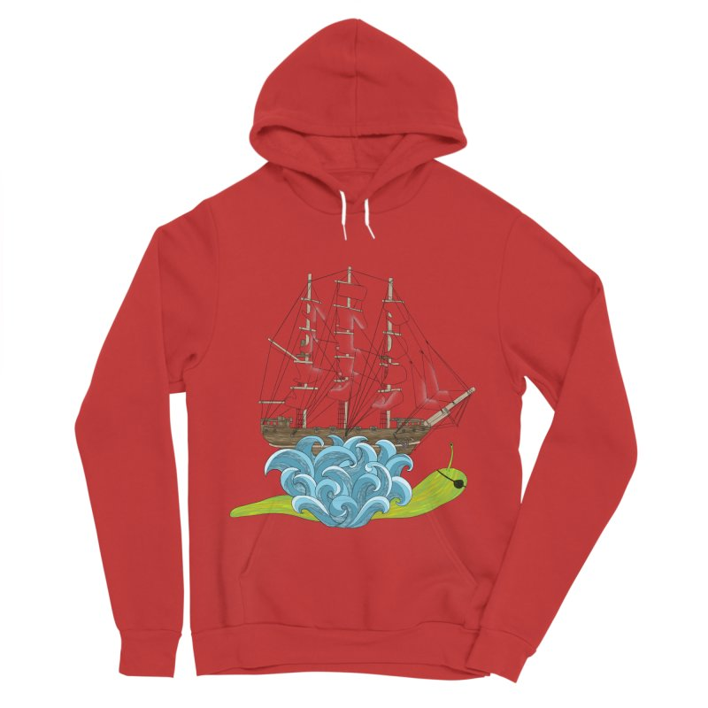 Ship Snail Men's Sponge Fleece Pullover Hoody by The Art of Rosemary
