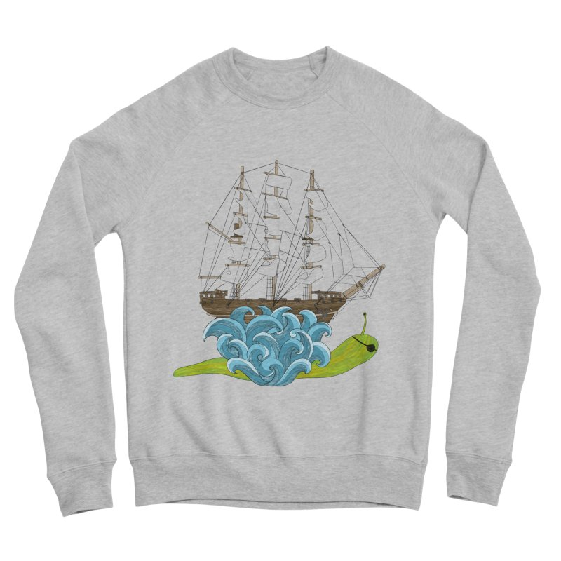 Ship Snail Men's Sponge Fleece Sweatshirt by The Art of Rosemary