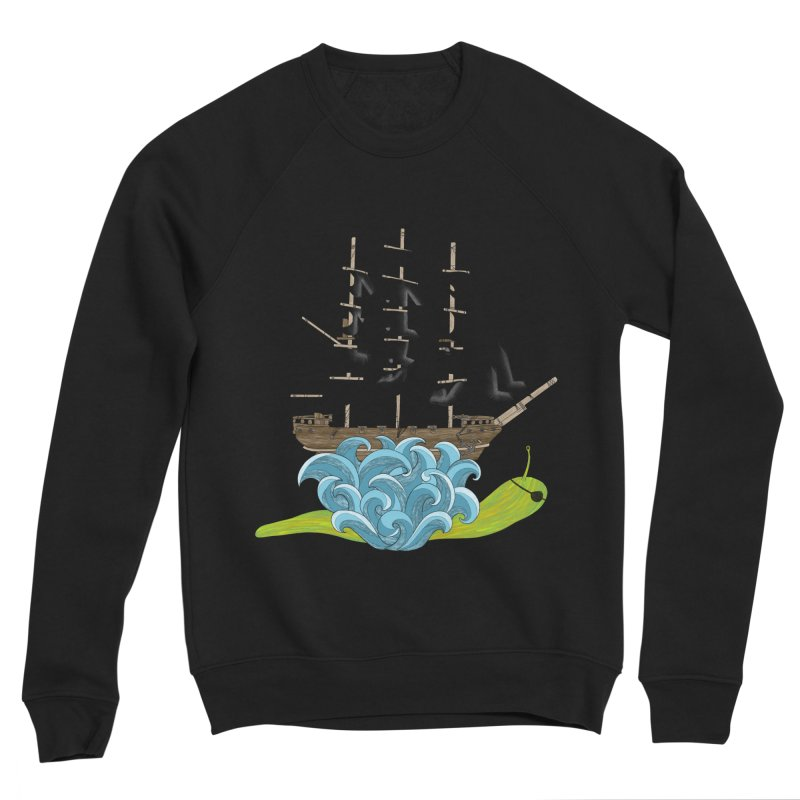 Ship Snail Men's Sponge Fleece Sweatshirt by The Art of Rosemary