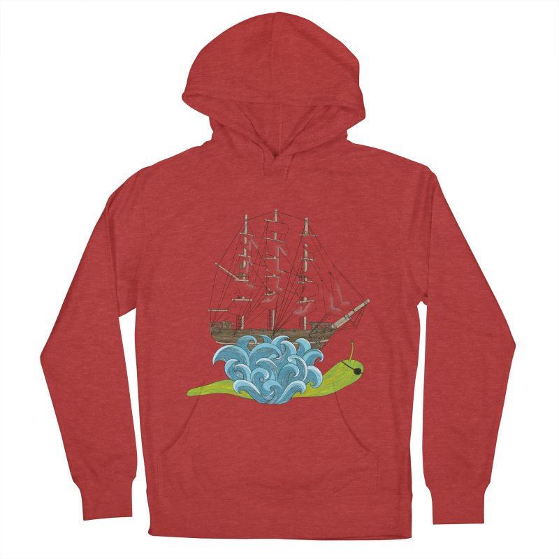 Ship Snail Men's French Terry Pullover Hoody by The Art of Rosemary