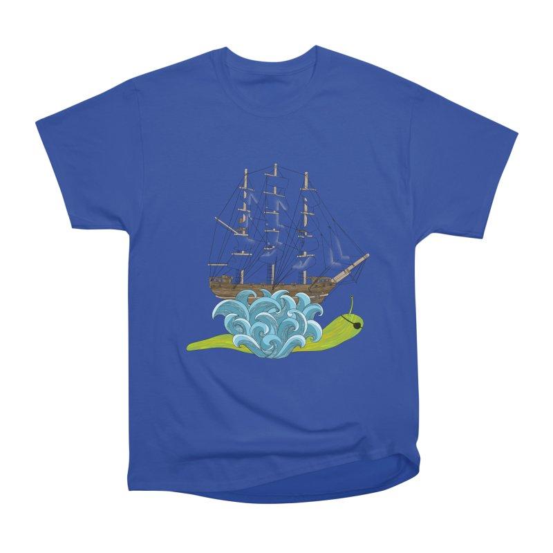 Ship Snail Women's Heavyweight Unisex T-Shirt by The Art of Rosemary