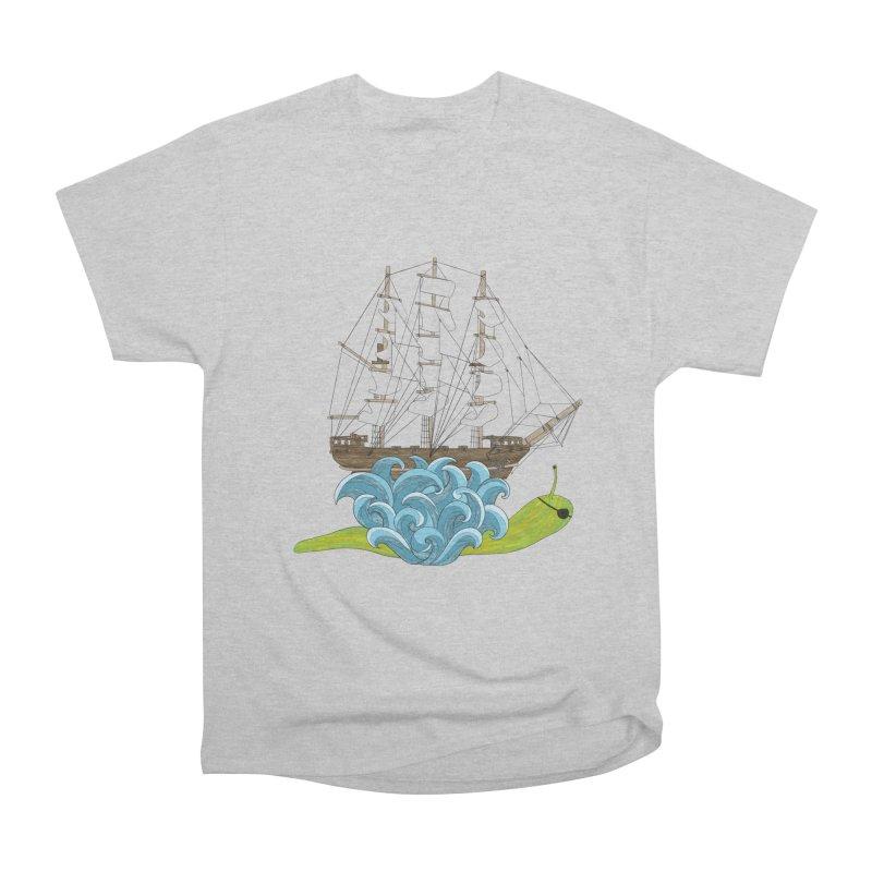 Ship Snail Men's Heavyweight T-Shirt by The Art of Rosemary