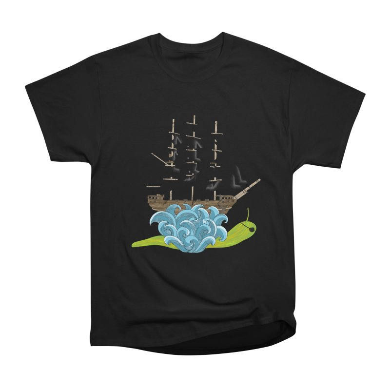 Ship Snail Women's Heavyweight Unisex T-Shirt by The Art of Rosemary