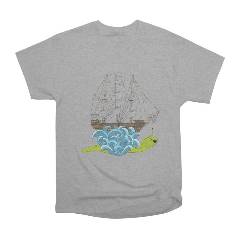 Ship Snail Men's Heavyweight T-Shirt by The Art of Rosemary