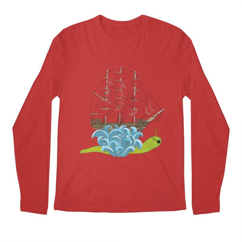 Ship Snail Men's Regular Longsleeve T-Shirt by The Art of Rosemary