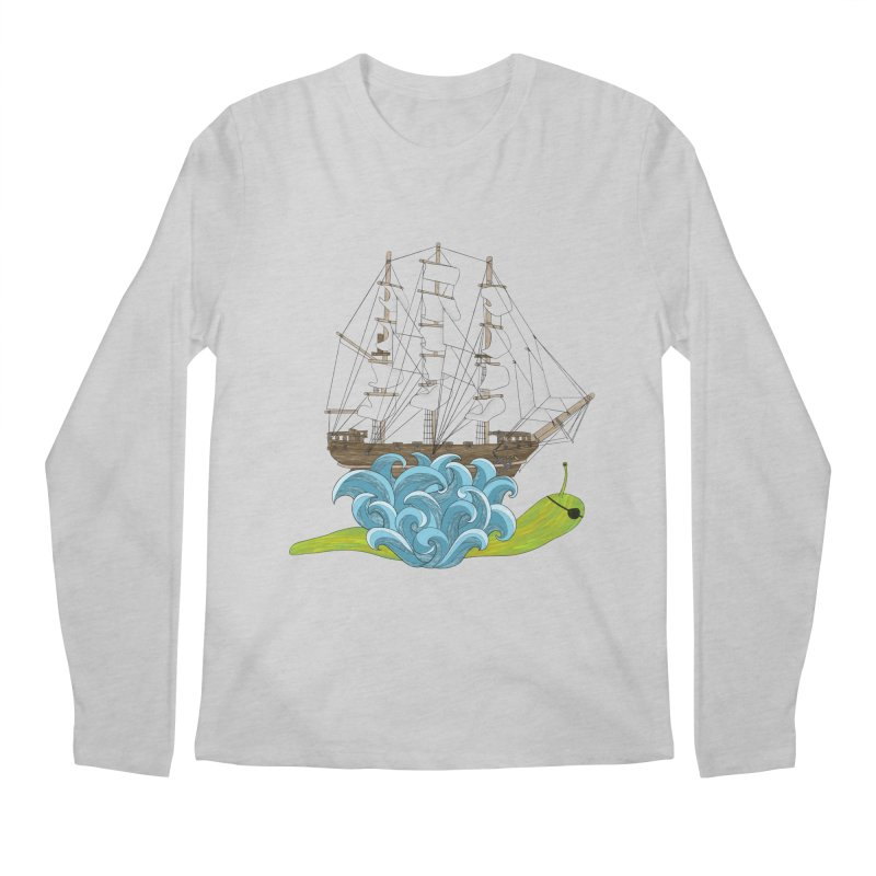 Ship Snail Men's Regular Longsleeve T-Shirt by The Art of Rosemary