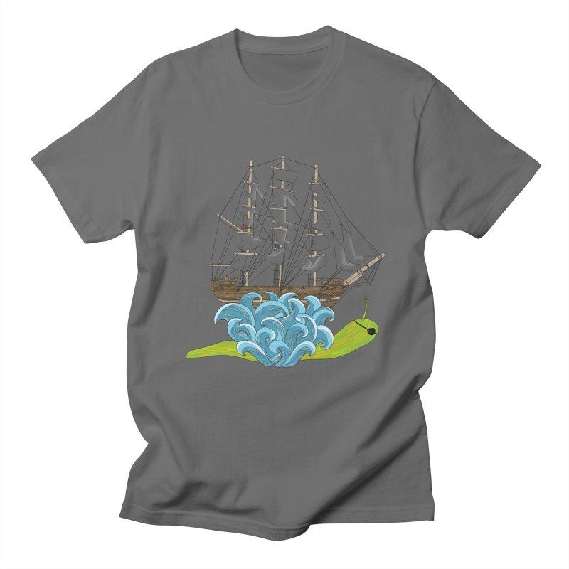 Ship Snail Men's T-Shirt by The Art of Rosemary