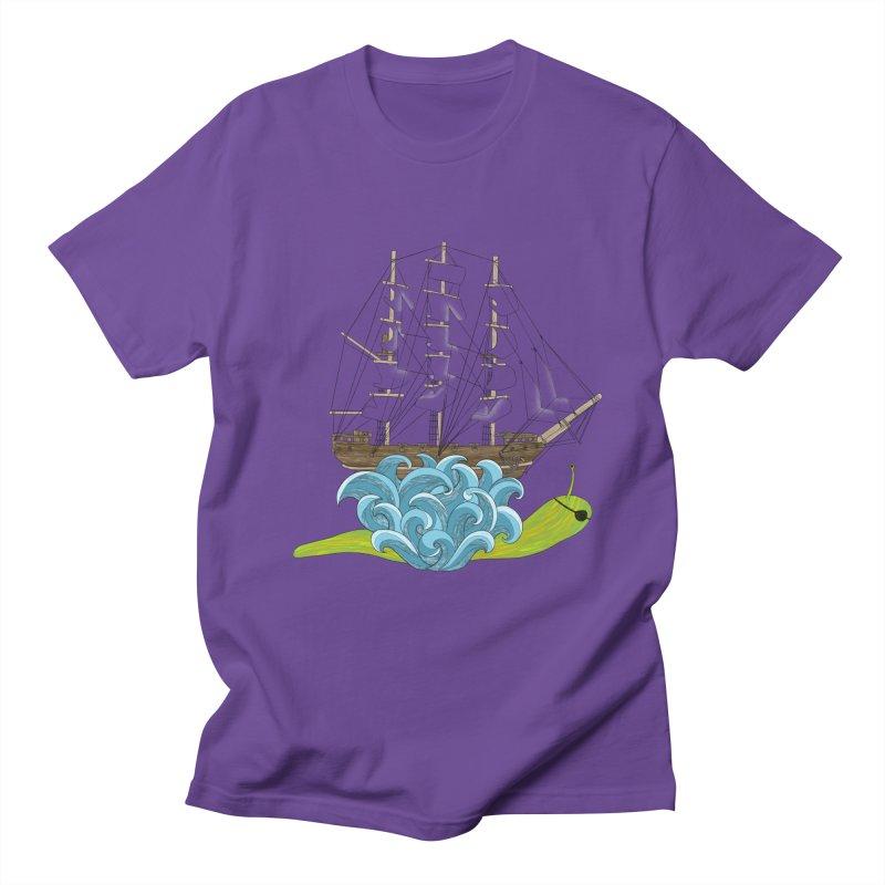 Ship Snail Women's Regular Unisex T-Shirt by The Art of Rosemary