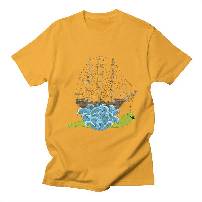 Ship Snail Men's Regular T-Shirt by The Art of Rosemary