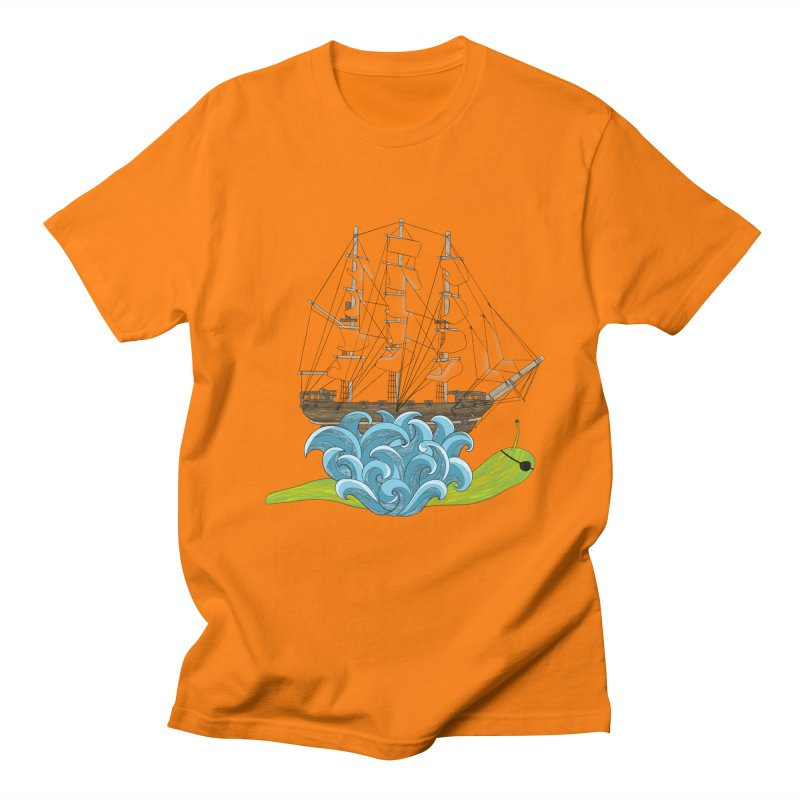 Ship Snail Men's Regular T-Shirt by The Art of Rosemary