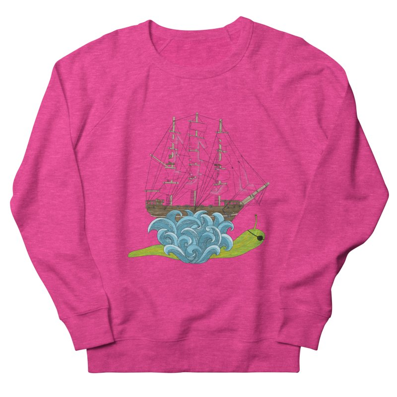 Ship Snail Men's French Terry Sweatshirt by The Art of Rosemary