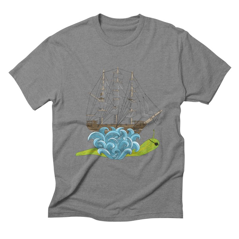 Ship Snail Men's Triblend T-Shirt by The Art of Rosemary