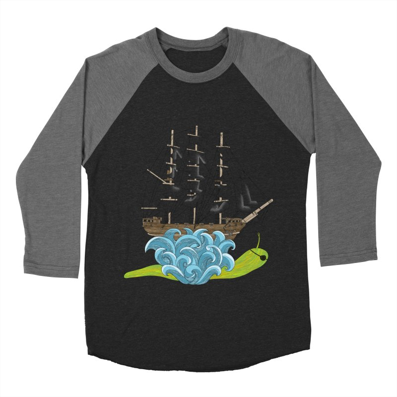 Ship Snail Men's Baseball Triblend Longsleeve T-Shirt by The Art of Rosemary