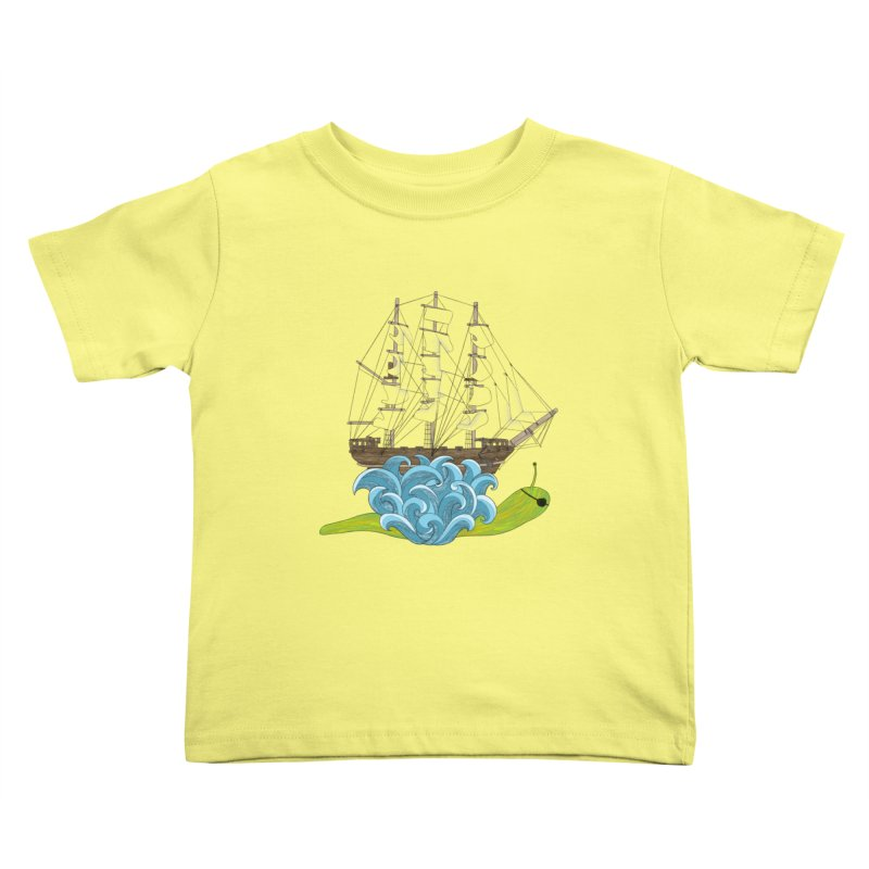 Ship Snail Kids Toddler T-Shirt by The Art of Rosemary