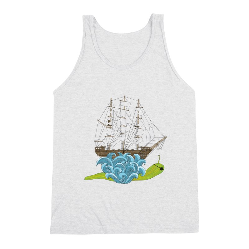 Ship Snail Men's Triblend Tank by The Art of Rosemary
