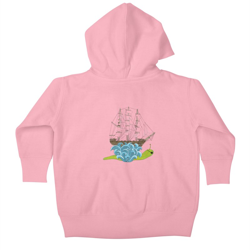 Ship Snail Kids Baby Zip-Up Hoody by The Art of Rosemary