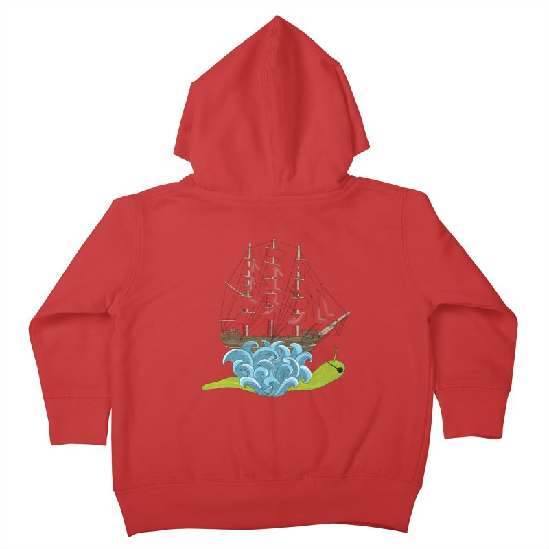 Ship Snail Kids Toddler Zip-Up Hoody by The Art of Rosemary