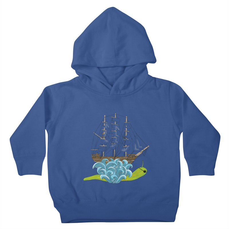 Ship Snail Kids Toddler Pullover Hoody by The Art of Rosemary
