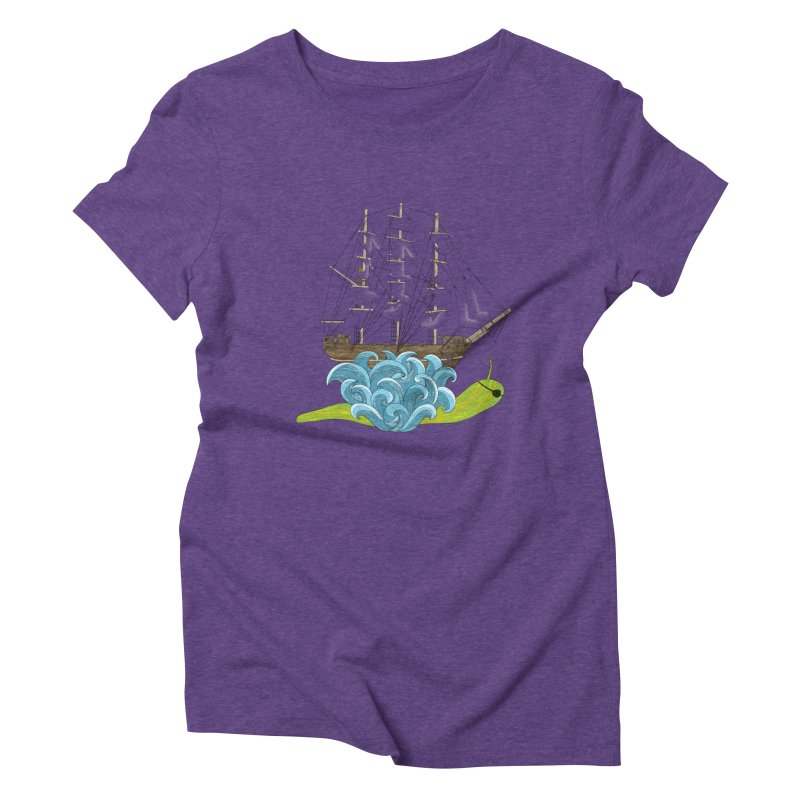 Ship Snail Women's Triblend T-Shirt by The Art of Rosemary
