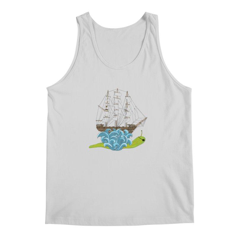 Ship Snail Men's Regular Tank by The Art of Rosemary