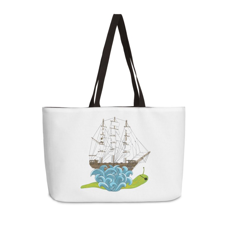 Ship Snail Accessories Weekender Bag Bag by The Art of Rosemary