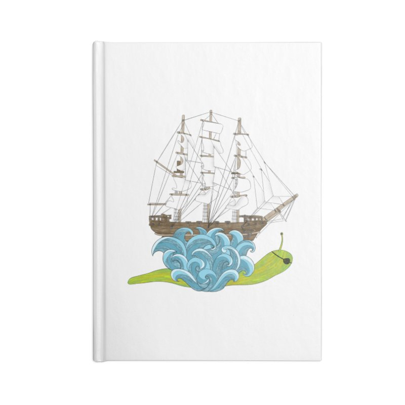 Ship Snail Accessories Lined Journal Notebook by The Art of Rosemary