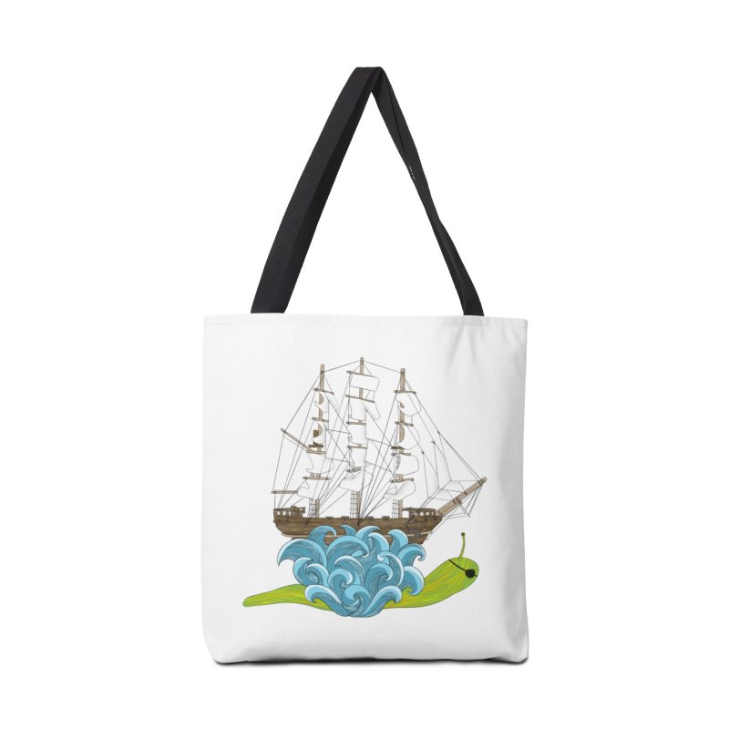 Ship Snail Accessories Tote Bag Bag by The Art of Rosemary