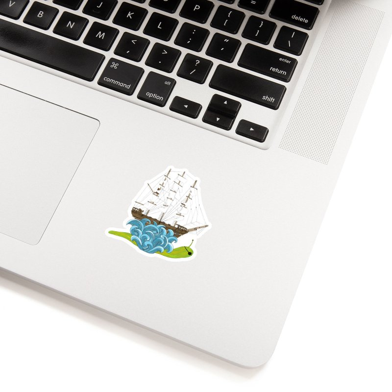 Ship Snail Accessories Sticker by The Art of Rosemary