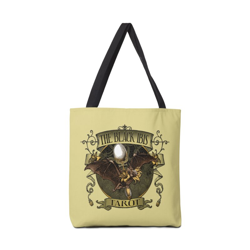 The Black Ibis Tarot Queen Bat Tee Accessories Tote Bag Bag by theatticshoppe's Artist Shop