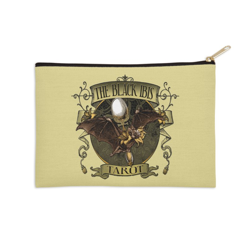 The Black Ibis Tarot Queen Bat Tee Accessories Zip Pouch by theatticshoppe's Artist Shop