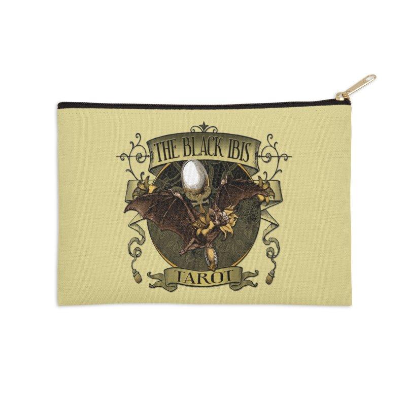 The Black Ibis Tarot Queen Bat Tee Accessories Zip Pouch by theatticshoppe's Artist Shop