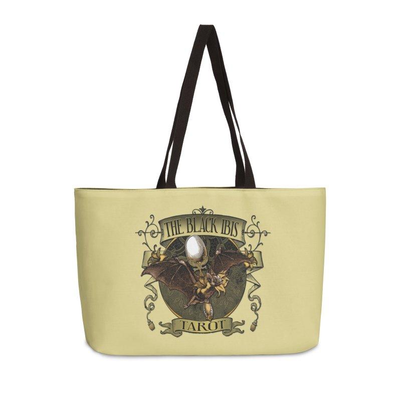 The Black Ibis Tarot Queen Bat Tee Accessories Weekender Bag Bag by theatticshoppe's Artist Shop