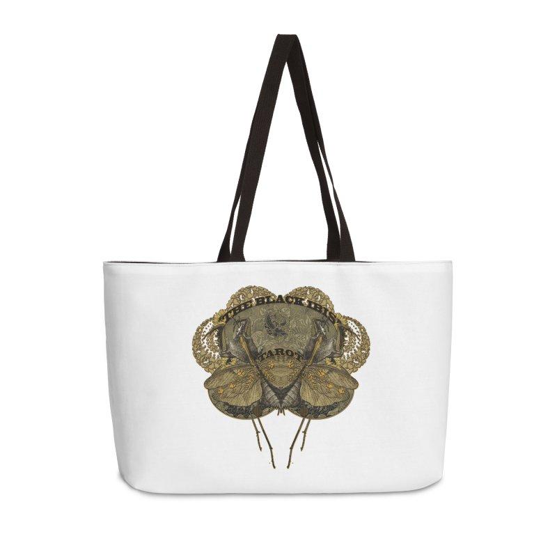 The Black Ibis Tarot Praying Mantis Tee Accessories Weekender Bag Bag by theatticshoppe's Artist Shop