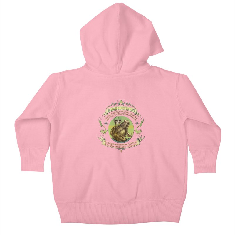 Black Ibis Tarot Frog Brew Tee Kids Baby Zip-Up Hoody by theatticshoppe's Artist Shop