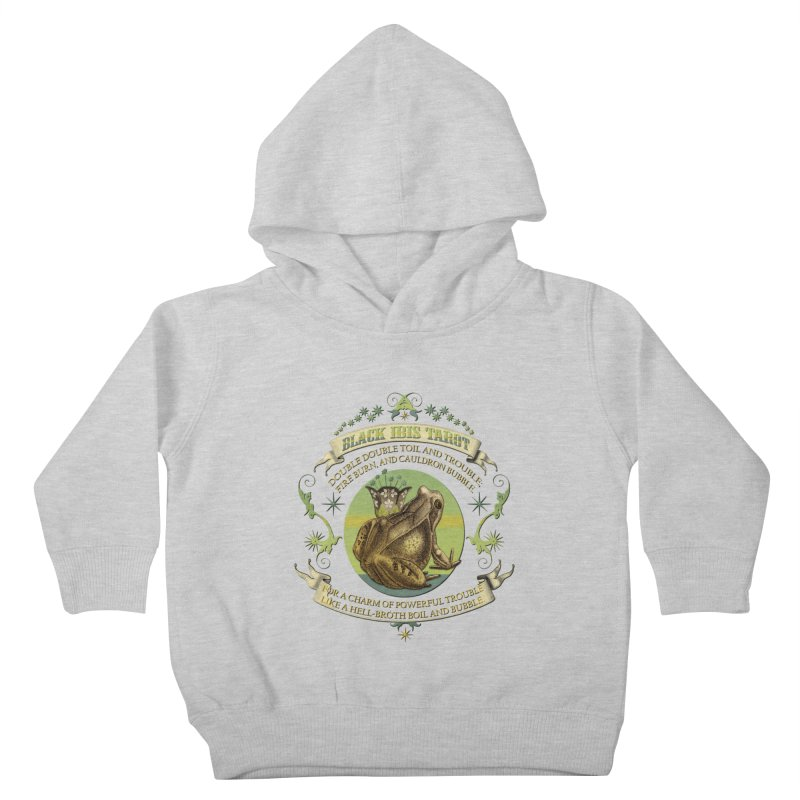 Black Ibis Tarot Frog Brew Tee Kids Toddler Pullover Hoody by theatticshoppe's Artist Shop