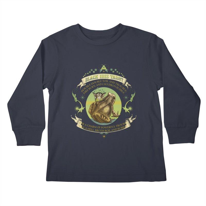 Black Ibis Tarot Frog Brew Tee Kids Longsleeve T-Shirt by theatticshoppe's Artist Shop