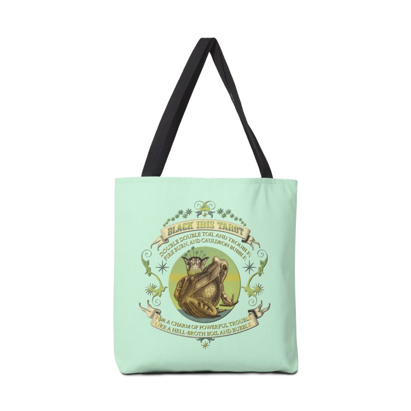 Black Ibis Tarot Frog Brew Tee Accessories Tote Bag Bag by theatticshoppe's Artist Shop