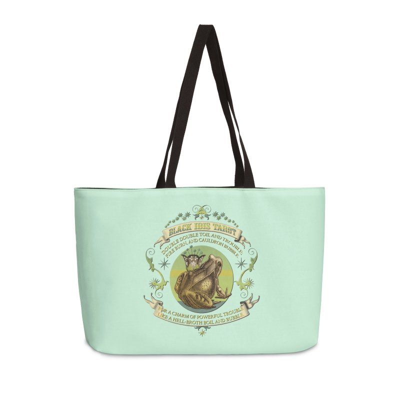 Black Ibis Tarot Frog Brew Tee Accessories Bag by theatticshoppe's Artist Shop